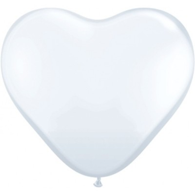 6 Inch Latex White Plain Htr 100Ctp Polybag balloon