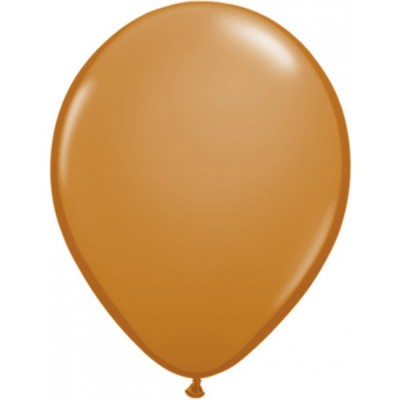 11 Inch Latex Mocha Brown Pl Rnd 100Ctp Polybag balloon