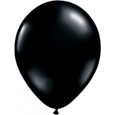 11 Inch Latex Onyx Black Pl Rnd 100Ctp Polybag balloon