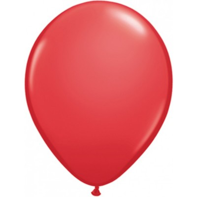 11 Inch Latex Red Plain Rnd 100Ctp Polybag balloon