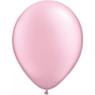 11 Inch Latex Prl Pink Plain Rnd 100Ctp Polybag balloon