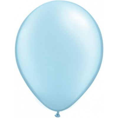 11 Inch Latex Prl Lt Blue Pl Rnd 100Ctp Polybag balloon