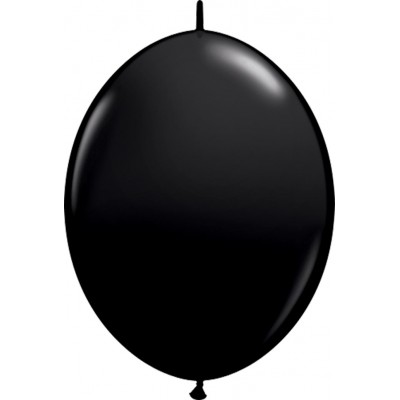 6 Inch Latex Quick Link Onyx Black 50Ctp Polybag balloon