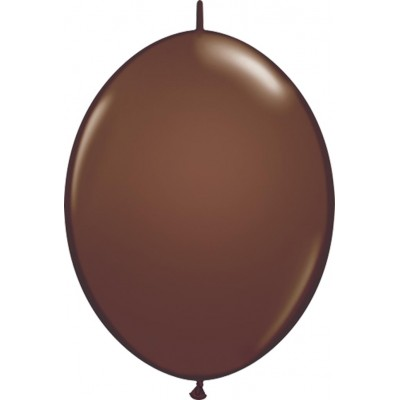 6 Inch Latex Quick Link Chocolate Brn 50Ctp Polybag balloon