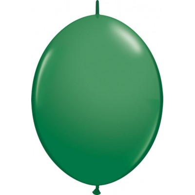 6 Inch Latex Quick Link Green 50Ctp Polybag balloon