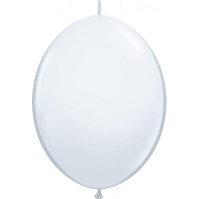 6 Inch Latex Quick Link White 50Ctp Polybag balloon