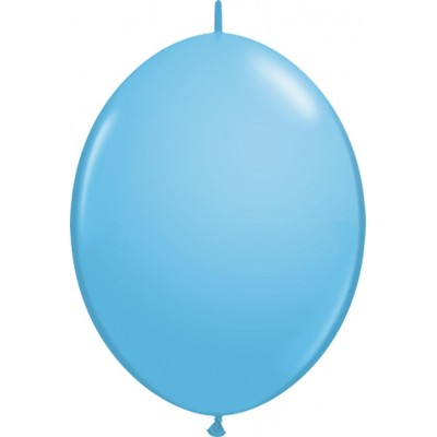6 Inch Latex Quick Link Pale Blue 50Ctp Polybag balloon