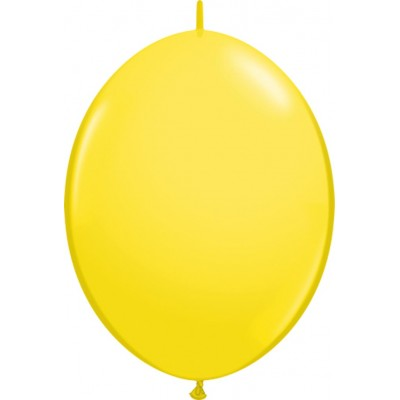 6 Inch Latex Quick Link Yellow 50Ctp Polybag balloon