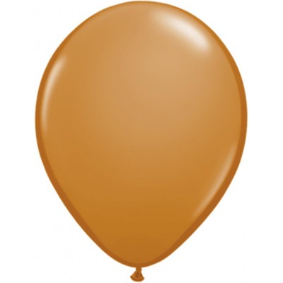 5 Inch Latex Plain Rnd Mocha Brown 100Ctp Polybag balloon