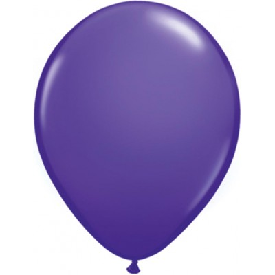 5 Inch Latex Plain Rnd Purple Violet 100Ctp Polybag balloon