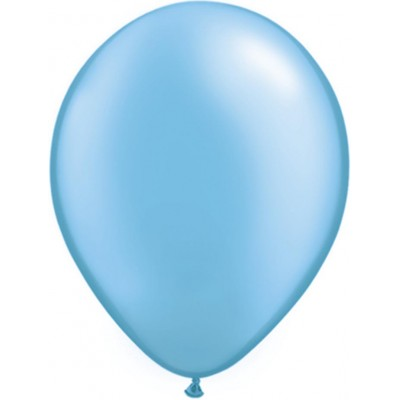 5 Inch Latex Plain Rnd Prl Azure 100Ctp Polybag balloon
