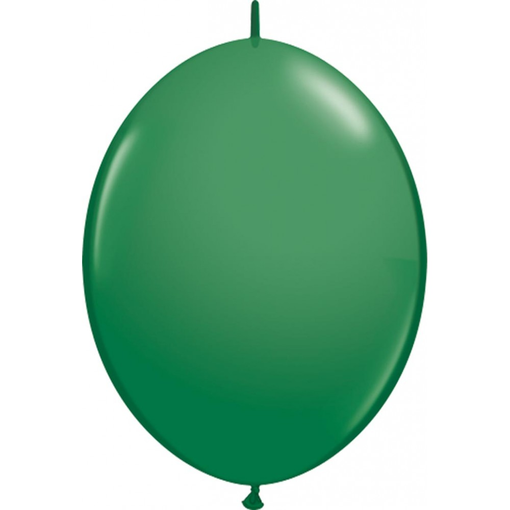 12 Inch Latex Quicklinks Green 50Ctp Polybag balloon