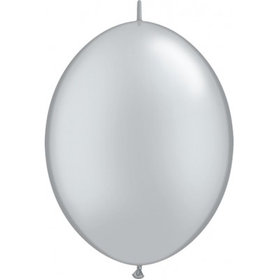 12 Inch Latex Quicklinks Silver 50Ctp Polybag balloon