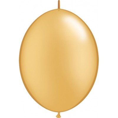 12 Inch Latex Quicklinks Gold 50Ctp Polybag balloon