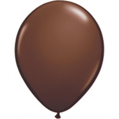 11 Inch Latex Rnd Chocolate Brn 100Ctp Polybag balloon