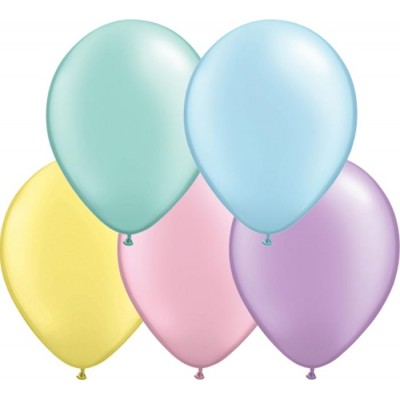 11 Inch Latex Rnd Pastl Prl Ast 100Ctp Polybag balloon