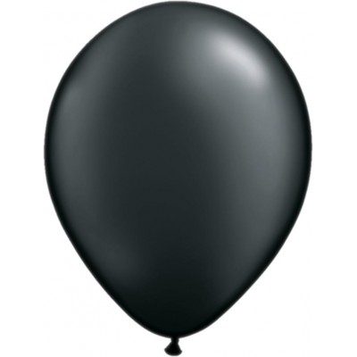 11 Inch Latex Rnd Prl Onyx Blk 100Ctp Polybag balloon