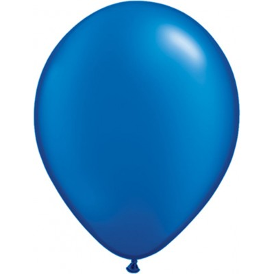 11 Inch Latex Rnd Prl Sapphire 100Ctp Polybag balloon