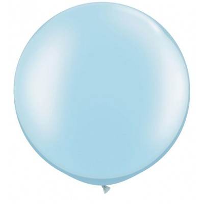 3 Ft Latex Plain Rnd Prl Lt Blue 2Ctp Polybag balloon
