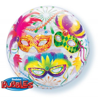 22 Inch Single Bubble Masquerade 1Ctp Foil Bag balloon