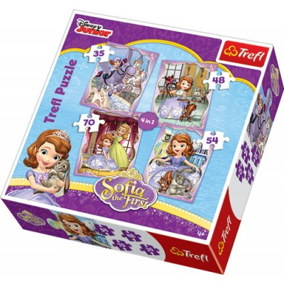 Trefl - 4 In 1 Puzzle (35+48+54+70) Piece Sofia