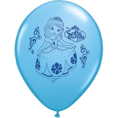 11 Inch Latex Rnd Prt Sofia The 1 2 Side Prt 25Ctp Polybag balloon