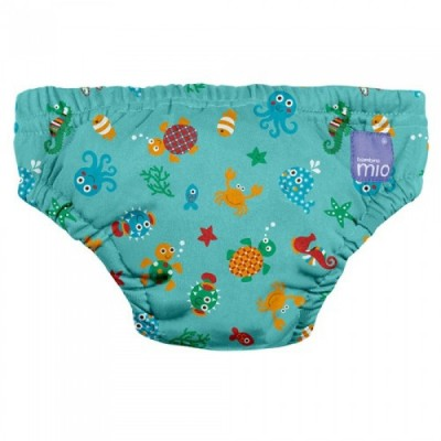 Bambino Mio Swim Nappy D/Blue Sea Small