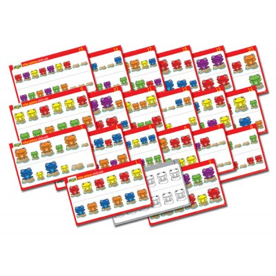 TFC - Fab Frogs Activity Cards Colour Patterns 20P