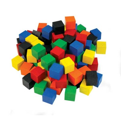 TFC - Cubes 2Cm Wood Coloured 102P