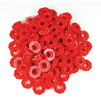 TFC - Place Value Abacus Beads  -  Red 100P