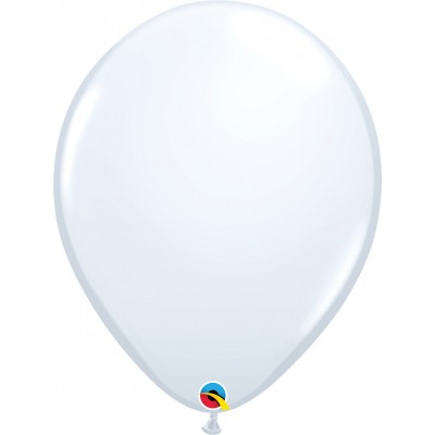 16 Inch Latex Plain Round White 50Ctp Polybag balloon