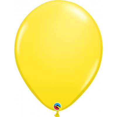 16 Inch Latex Plain Round Yellow 50Ctp Polybag balloon