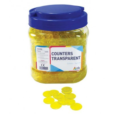TFC - Counters 22Mm Transparent Yellow 1000P