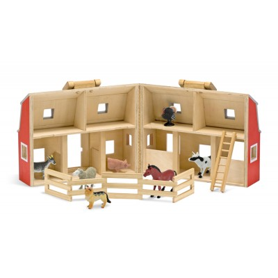 Melissa & Doug Fold And Go Mini Barn