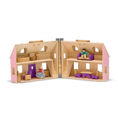 Melissa & Doug Fold And Go Mini Dolls House
