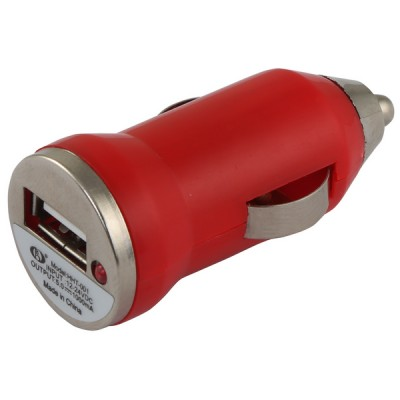 Usb Car Charger [Single] Red