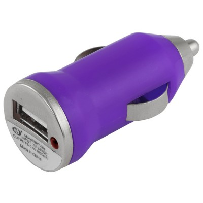 Car Lighter Usb Charger Purple