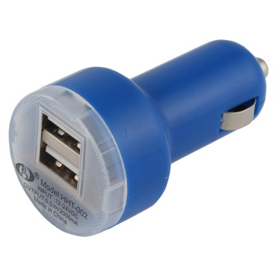 Car Lighter Usb Charger [Double] Royal Blue
