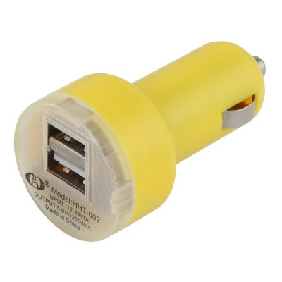 Car Lighter Usb Charger [Double] Yellow