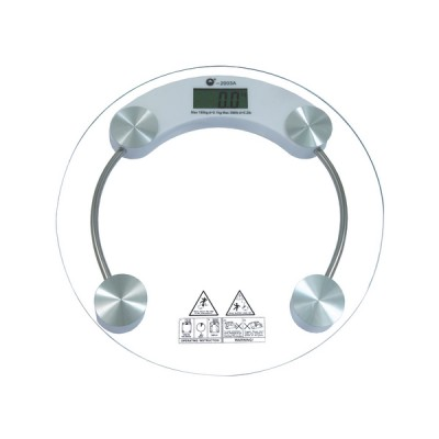 Bathroom Scale White-Clear