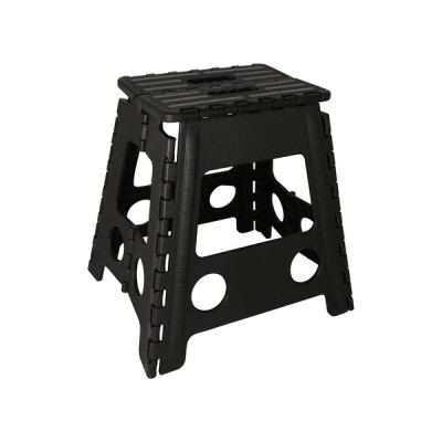 Folding Step-Up Chair Black