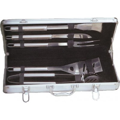 Stainless Steel Braai Set Silver