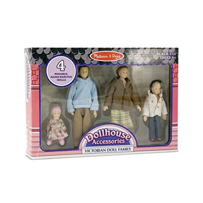 Melissa & Doug African-American Victorian Doll Family