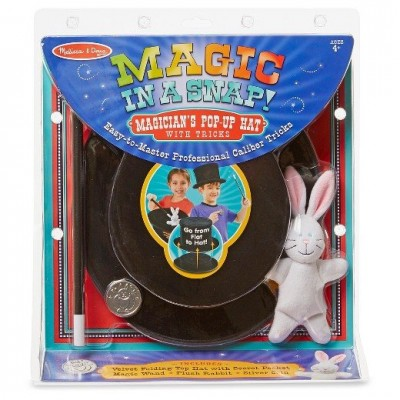 Melissa & Doug Magic In A Snap - Magician Pop Up Hat
