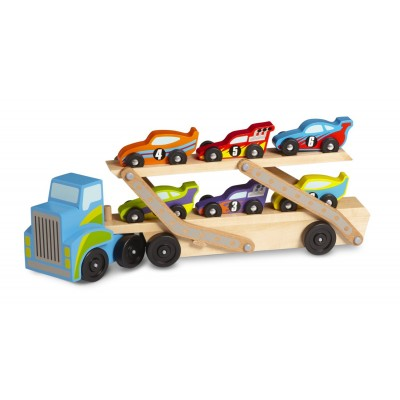 Melissa & Doug Jumbo Race-Car Carrier