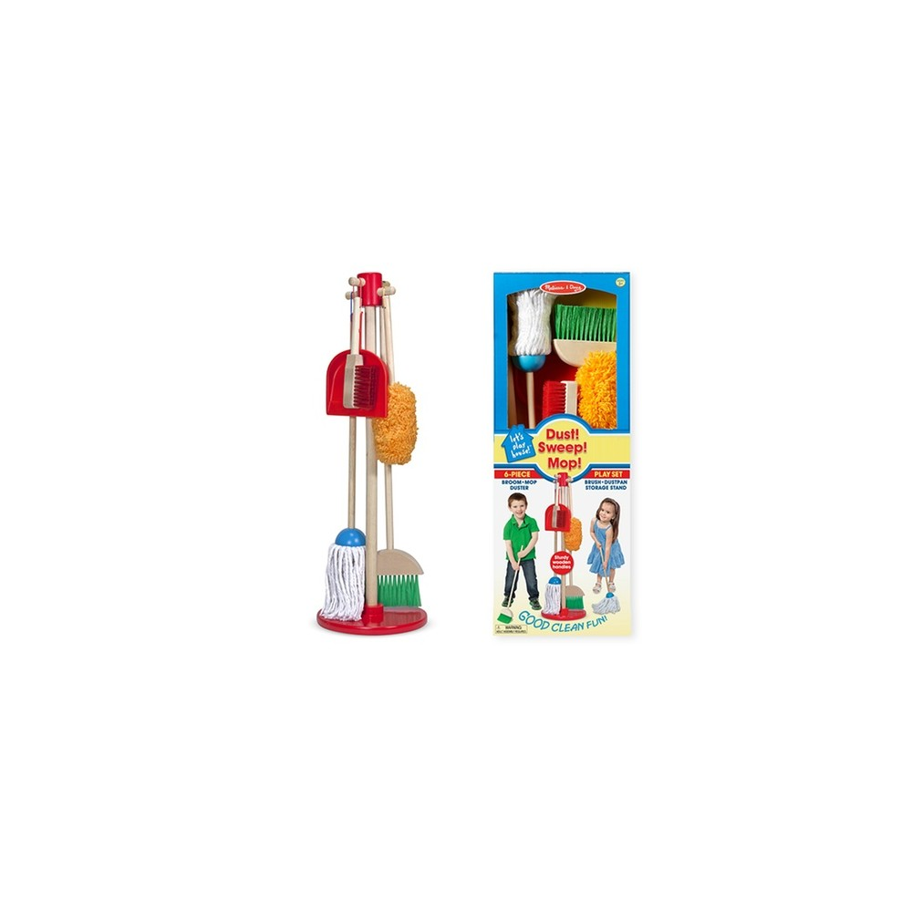 Melissa & Doug Lets Play House! Dust, Sweep & Mop