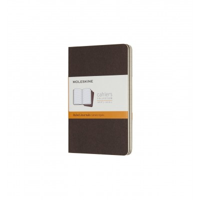 Moleskin Cahier Coffee Brown Pocket Ruled