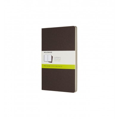 Moleskin Cahier Coffee Brown Large Plain