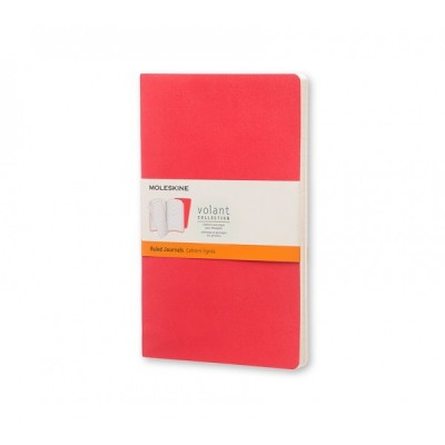 Moleskin Volant Scarlet Red Large Ruled: Pb