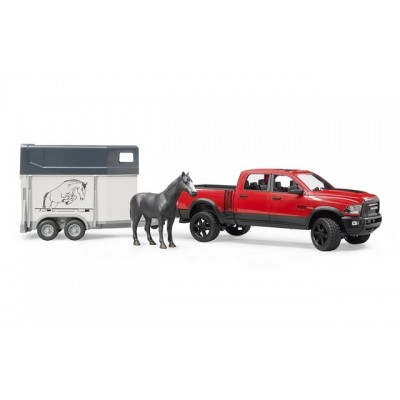 RAM 2500 Power Wagon with horse trailer and 1 horse